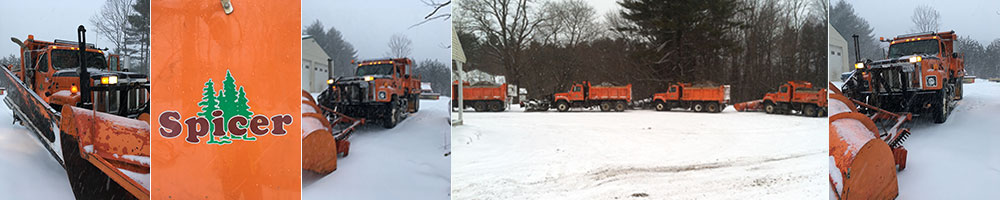 Spicer Tree municipal and commercial snow plowing in central Maine